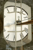 Clock mechanism of bell tower Royalty Free Stock Images