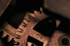 Clock - mechanism close up Royalty Free Stock Image