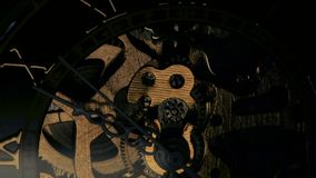 Clock mechanism. Close up stock video footage