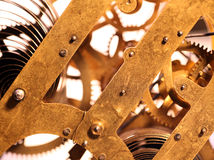 Clock mechanism stock photo