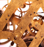 Clock mechanism royalty free stock photos