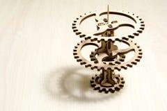 A clock mechanism. stock image