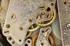 Clock Mechanism with Gears taken Closeup. Stock Image