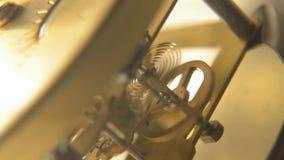 Clock mechanism gears at work , video stock video