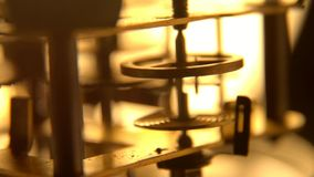 Clock mechanism gears at work , video stock video footage