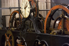 Clock mechanism Stock Photos