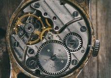Clock mechanism macro Stock Photography