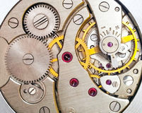 Clock mechanism macro shot Stock Image