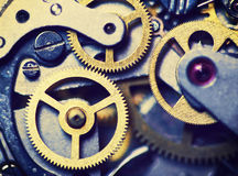 Clock mechanism made in the technique of toning Royalty Free Stock Images