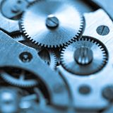 Clock mechanism made in the technique of toning Royalty Free Stock Photography