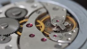 Clock mechanism stock footage