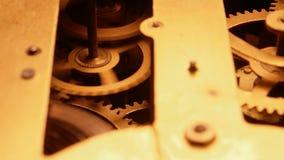 Clockmechanism works stock video footage