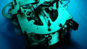 Clockmechanism works stock footage
