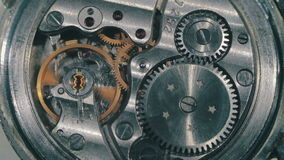 Clock Mechanism Works stock footage