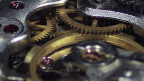 Clock Mechanism Works stock video