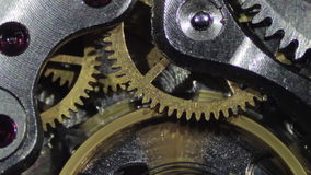 Clock Mechanism Works stock video footage