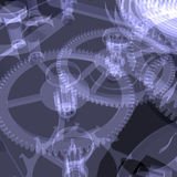 Clock mechanism. X-ray Stock Image