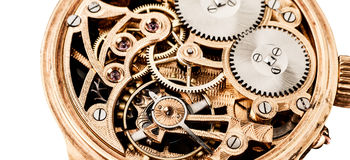 Clock mechanisms Royalty Free Stock Photo