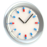 Clock with medical pills as numbers Royalty Free Stock Images
