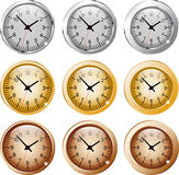 Clock metal brass copper Stock Photos