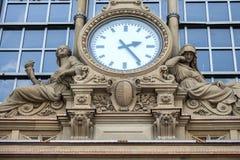 Clock in metro station frankfurt Royalty Free Stock Photography
