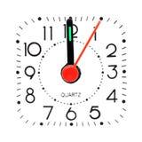 Clock at midnight Stock Photo