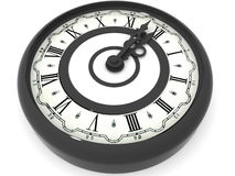 Clock. Midnight Stock Images