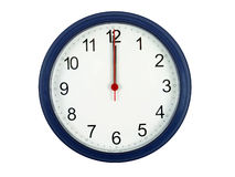 Clock At Midnight Royalty Free Stock Image
