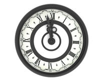 Clock. Midnight Royalty Free Stock Photos