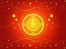 clock midnight Στοκ Εικόνες