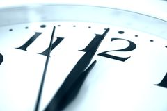 Clock at midnight Stock Image