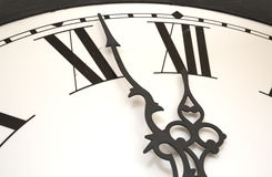 Clock at almost midnight Royalty Free Stock Image