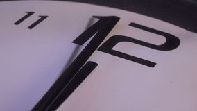 Clock at Midnight. Clock Hands at Midnight, Clock Face Close Up Footage stock footage