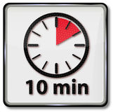 Clock with 10 minutes Royalty Free Stock Photo