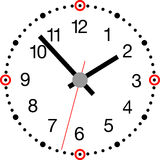 Clock_modern Fotos de Stock Royalty Free