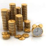 Clock and money Stock Photos