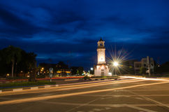 Clock monument. Huge clock circular monument in thailand stock photography