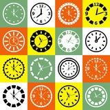 Clock mosaic Stock Image