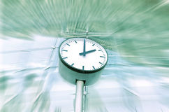 Clock with motion background Stock Image