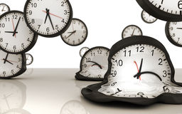 Clock. In motion - gravity of time Royalty Free Illustration