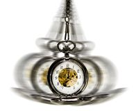 Clock in motion - hypnotism Royalty Free Stock Photography