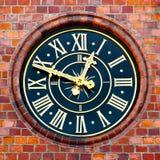 Clock on a municipal tower Stock Photography