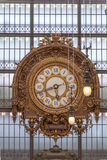 Clock of the Musee D'Orsay Royalty Free Stock Photo
