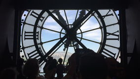 Clock of Musee Orsay in Paris, France stock footage