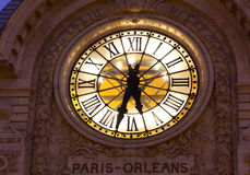 Clock in the museum of Orsay, Paris Stock Images