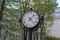 Clock in nature. This is a shot of a classic style clock in nature Stock Photography