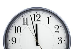 Clock (NEW YEAR concept) Royalty Free Stock Photography