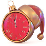 Clock New Year`s Eve midnight hour countdown time future Stock Photos