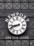 Clock at Newport Royalty Free Stock Photography