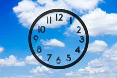 Clock and sky. With no hands Stock Image